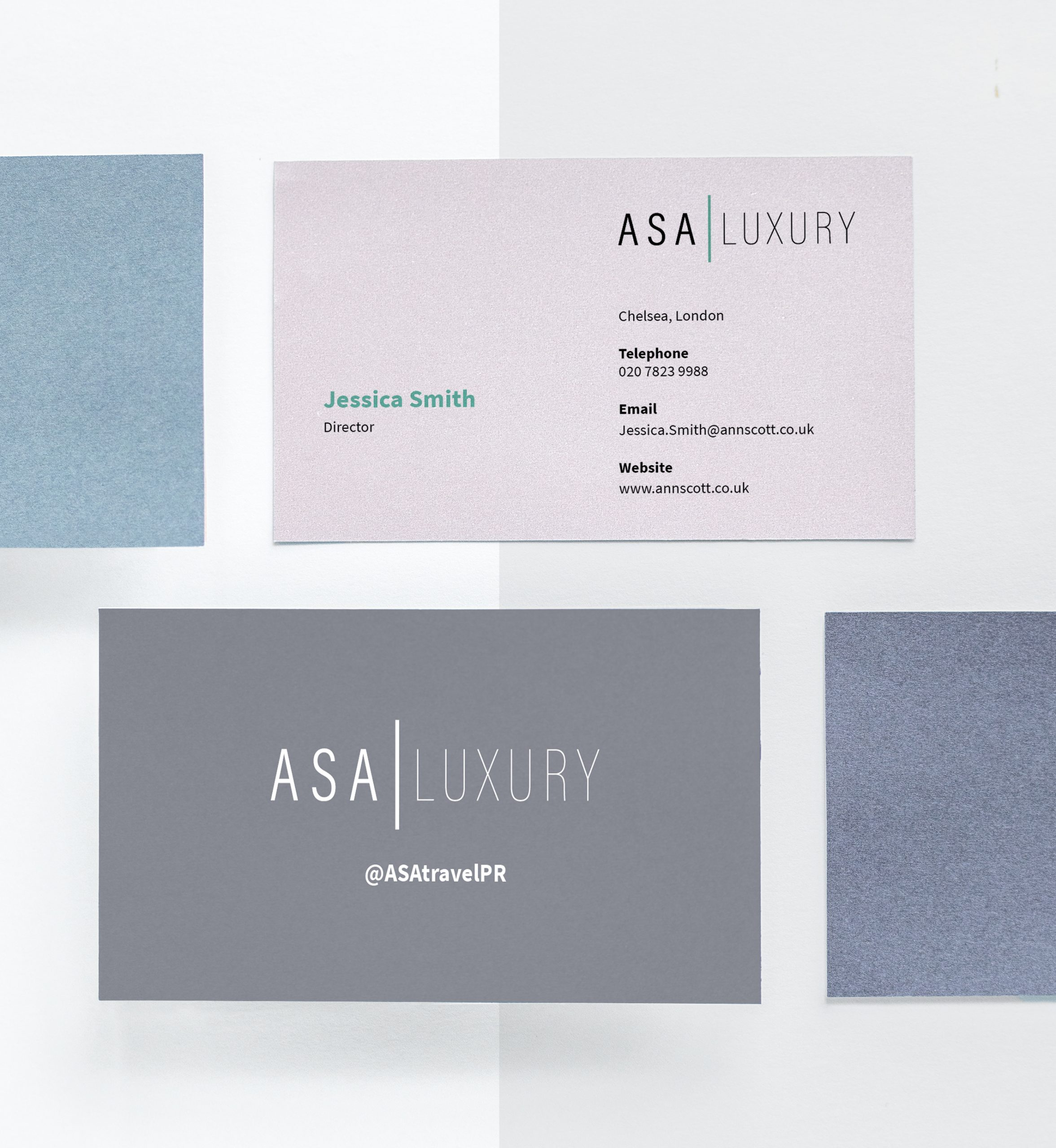 Ann Scott Rebranding Business Cards
