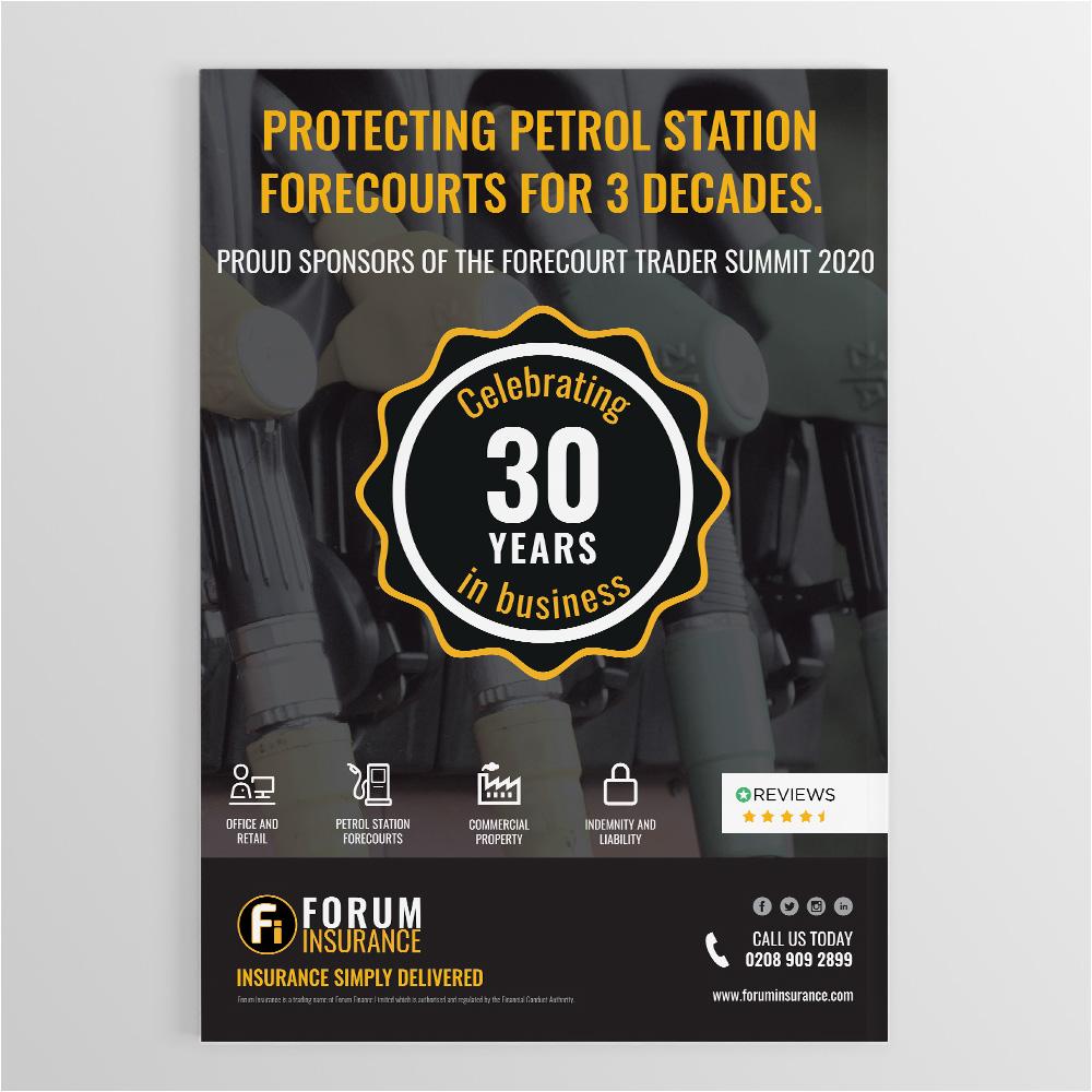 Forum Insurance 30Years branding